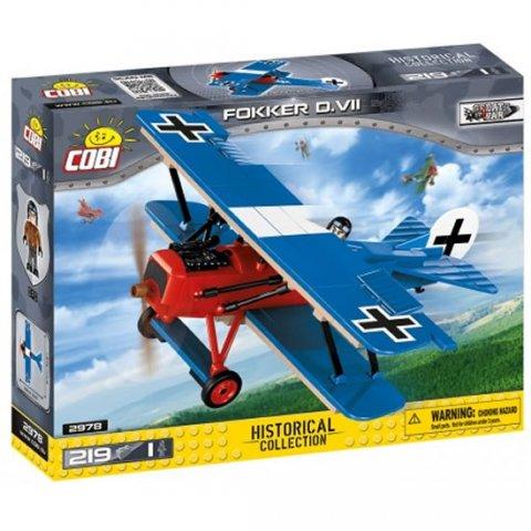 neuveden: Stavebnice COBI 2978 Great War Stíhací letoun Fokker D. VII/ 219 kostek+1 f