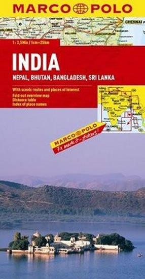 neuveden: Indie,Nepál/mapa 1