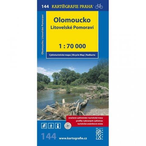 neuveden: 1: 70T(144)-Olomoucko,Litovelské Pomoraví (cyklomapa)