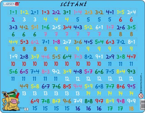 neuveden: Puzzle MAXI - Sčítání/81 dílků