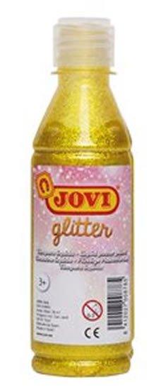 neuveden: JOVI temperová barva glittrová 250 ml  v lahvi žlutá