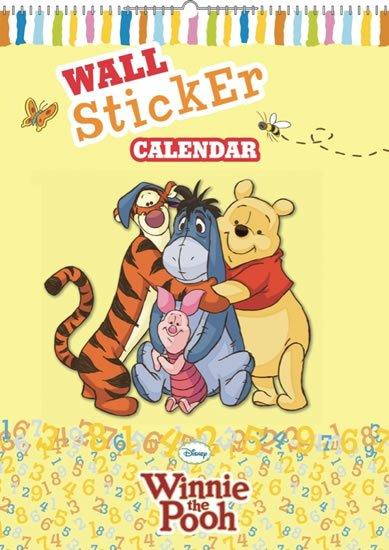 neuveden: Kalendář - W. Disney Medvídek Pú - kalendář se samolepkami na zeď - nedatov