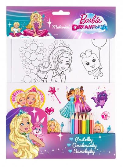 neuveden: Barbie Dreamtopia set - fialová, pastelky