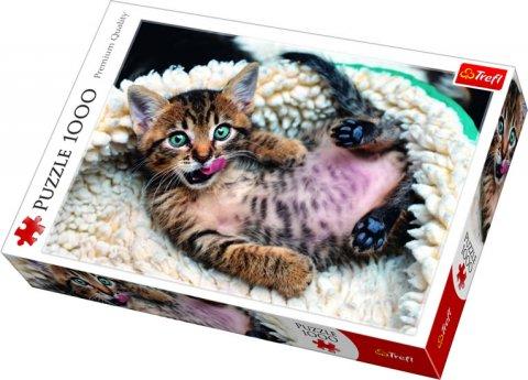 neuveden: Veselé kotě: Puzzle 1000 dílků