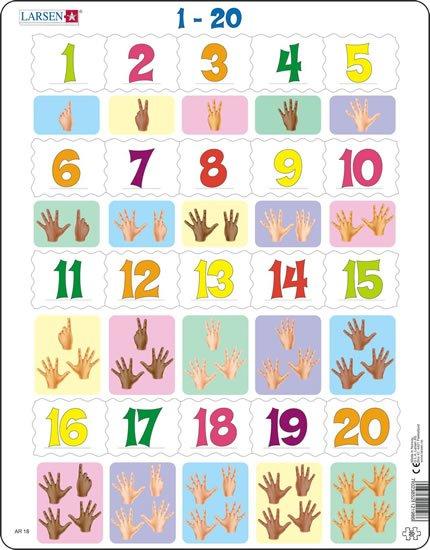 neuveden: PUZZLE MAXI - Prsty na ruce od 1 - 20/20 dílků
