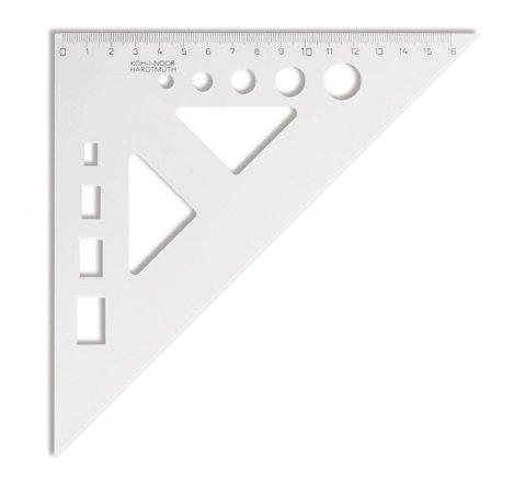 neuveden: Koh-i-noor trojúhelník s kolmicí a výřezy transparentní