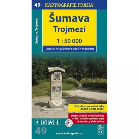 neuveden: 1: 50T (49)-Šumava-Trojmezí (turistická mapa)