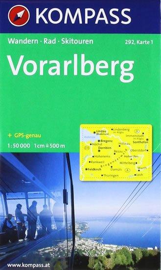 neuveden: Vorarlberg 292 ,2 mapy / 1:50T NKOM