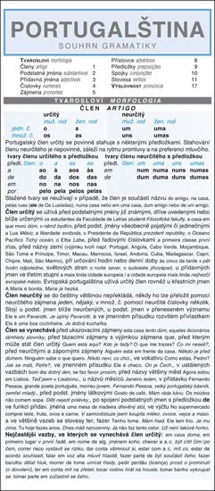 Jindrová Jaroslava: PORTUGALŠTINA  souhrn gramatiky