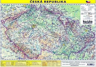 Kupka Petr a kolektiv: Česká republika - mapa A4 lamino