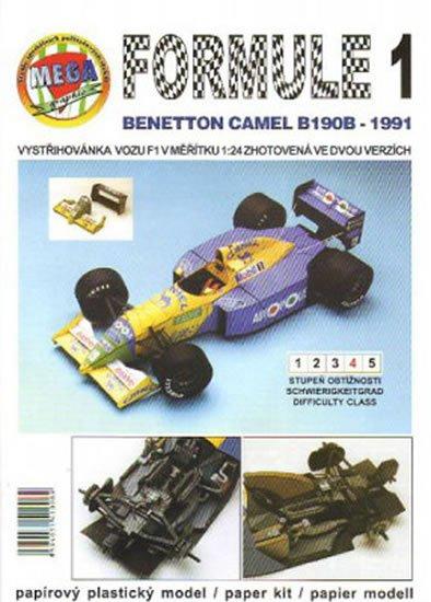 Antonický Michal: Formule 1: Benetton Camel B190B - 1991/papírový model