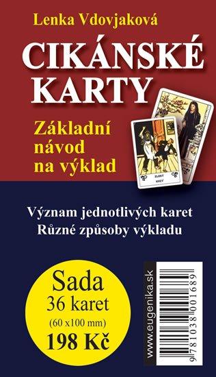 Vdovjaková Lenka: Cikánské karty - Základní návod na výklad + sada 36 karet