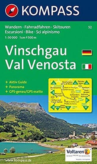 neuveden: Vinschgau,Val Venosta 52 / 1:50T KOM