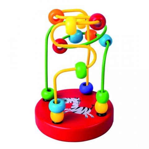 neuveden: Motorický labyrint s korálky: červený/BABY