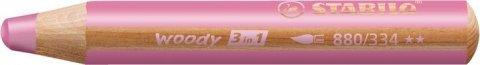 neuveden: Pastelka STABILO Woody 3v1 růžová
