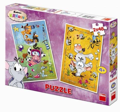 neuveden: Krkouni - Puzzle 2x48