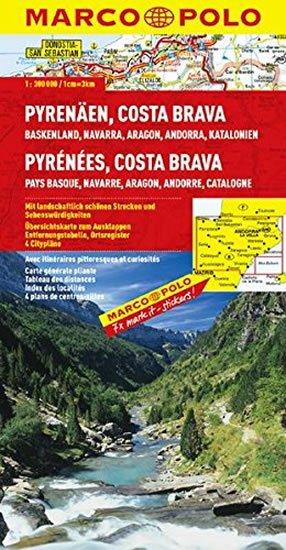 neuveden: Pyreneje, Costa Brava/mapa