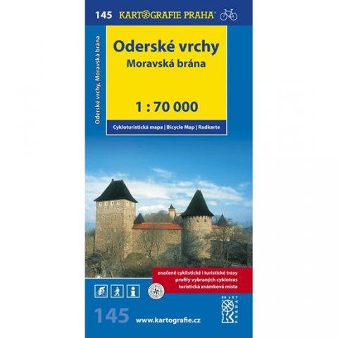 neuveden: 1: 70T(145)-Oderské vrchy,Moravská brána (cyklomapa)
