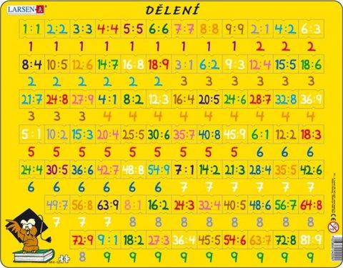 neuveden: Puzzle MAXI - Dělení/81 dílků