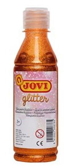 neuveden: JOVI temperová barva glittrová 250 ml v lahvi oranžová