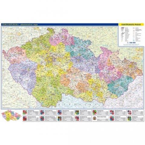 neuveden: Česká republika - administrativní mapa 1:500 tis.