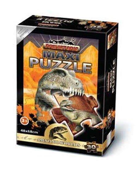 neuveden: Puzzle Maxi 30 - Prehistoric Ceratosaurus