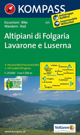 neuveden: Altipiani di folgaria,Lavarone 631 / 1:25T NKOM