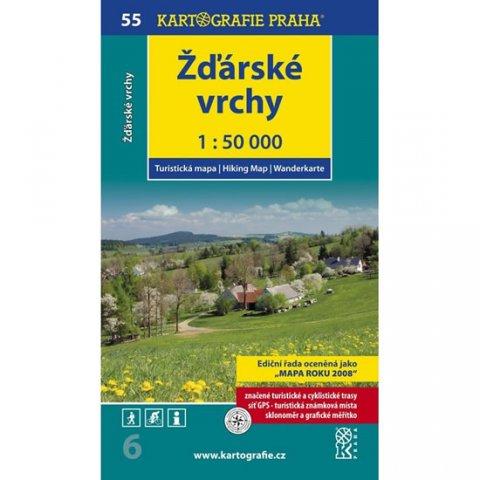neuveden: 1: 50T (55)-Žďárské vrchy (turistická mapa)