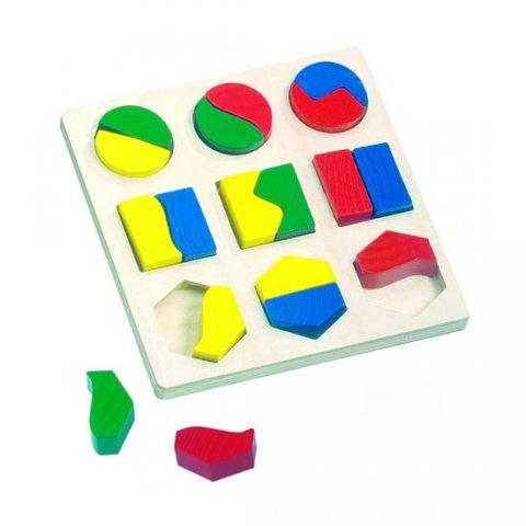 neuveden: Puzzle - geometrické tvary