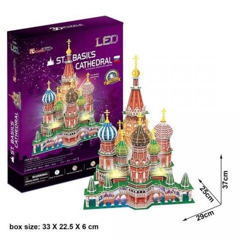 neuveden: Puzzle 3D Chrám Vasila Blaženého led/224 dílků