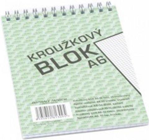 neuveden: Blok s horní vazbou A6, čtvereček, 50 listů