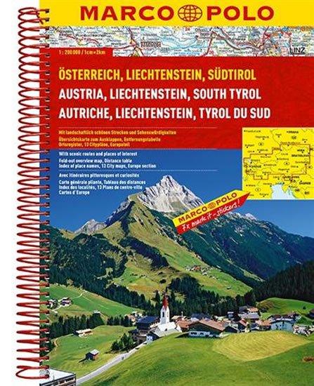 neuveden: Rakousko, Liechtenstein, Sudtirol 1:200T
