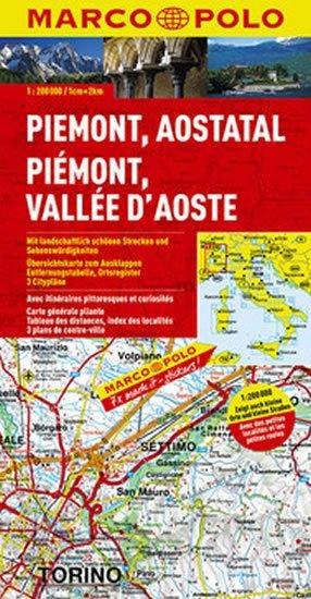 neuveden: Itálie - Piemont,Aostata/mapa