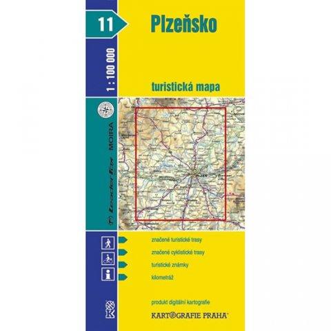 neuveden: 1:100T (11)-Plzeňsko (turistická mapa)