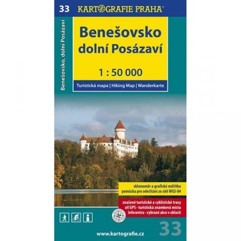 neuveden: 1: 50T (33)-Benešovsko, dolní Posázaví (turistická mapa)