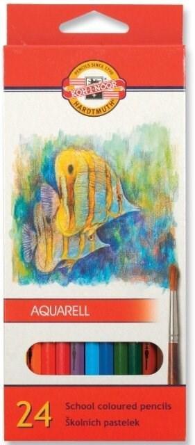 neuveden: Koh-i-noor pastelky akvarelové školní 24 ks motiv RYBY