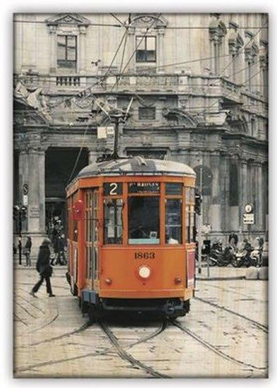 neuveden: Obraz dřevěný: Tram, 340x485