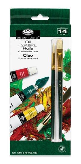 neuveden: Royal & Langnickel Olejové barvy ARTIST 12x12ml + 2 štětce