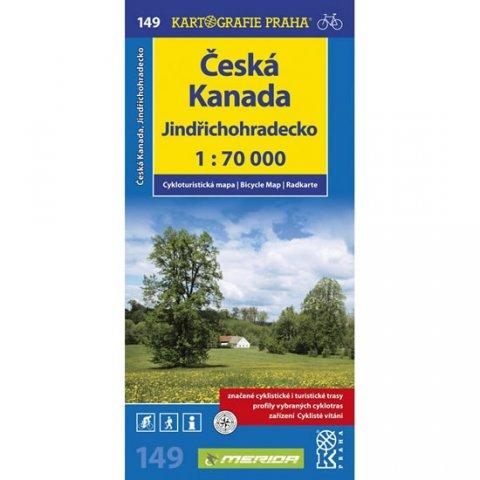 neuveden: 1: 70T(149)-Jindřichohradecko,Česká Kanada (cyklomapa)