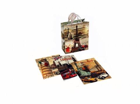 neuveden: Dárková taška - Metropole/26x33,2x12,5 (mix)