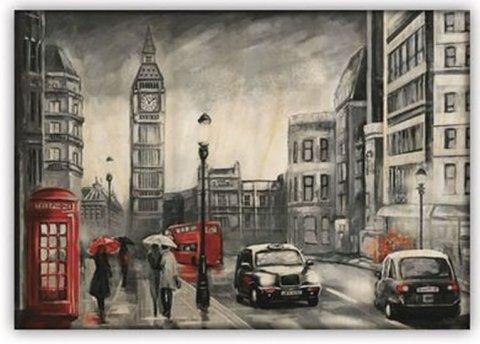 neuveden: Obraz dřevěný: London, 485x340