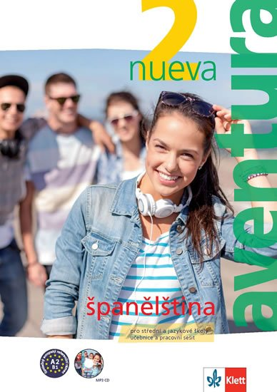 neuveden: Aventura nueva 2 (A2-B1) – učebnice s pracovním sešitem + CD MP3