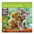 neuveden: Kalendář nástěnný 2022 - Animal Friends
