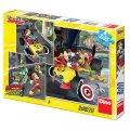 Disney Walt: Mickey a Minnie - Závodníci - puzzle 3x55 dílků