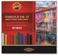 neuveden: Koh-i-noor křídy (pastely) prašné umělcké 10mm Toison D´or souprava 48 ks