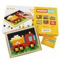 neuveden: Wooden Pixel: Auta: dřevěná mozaika 400 kostiček a 7 předloh