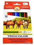 neuveden: Koh-i-noor pastlky TRIOCOLOR trojhranné souprava 12 ks