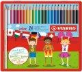 neuveden: Pastelky STABILO color sada 24 ks v kovovém pouzdru