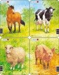 neuveden: Puzzle MINI - Domácí zvířátka/5 dílků (4 druhy)