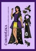 neuveden: Čarodějka - Sběratelská papírová vystřihovánka a omalovánka